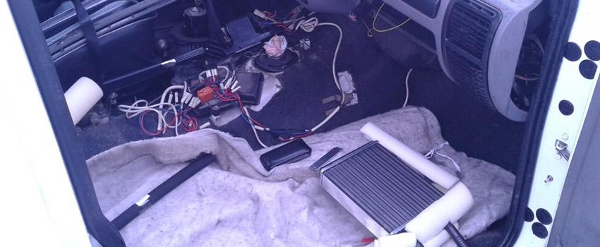 Замена радиатора печки BMW в Минске
