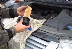 Замена масла в двигателе Volkswagen Passat в Минске