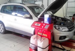 Замена масла в АКПП Volkswagen Tiguan