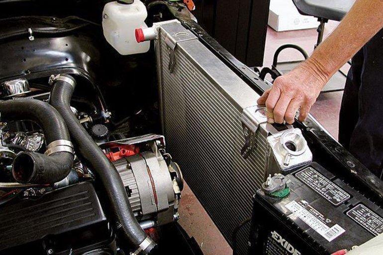 Замена радиатора охлаждения Ford в Минске