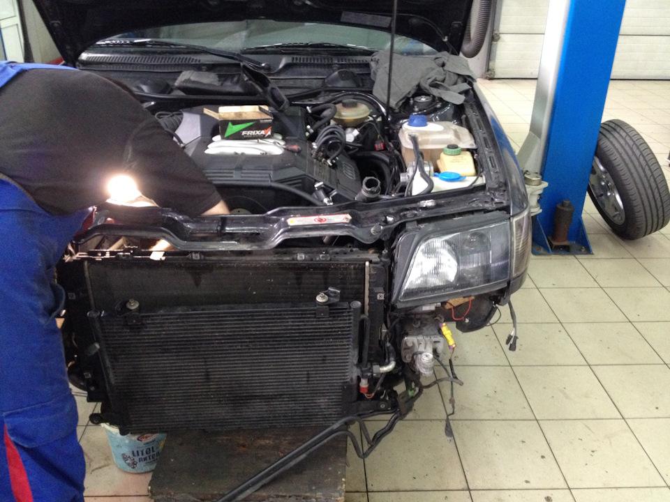Замена радиатора охлаждения Audi в Минске