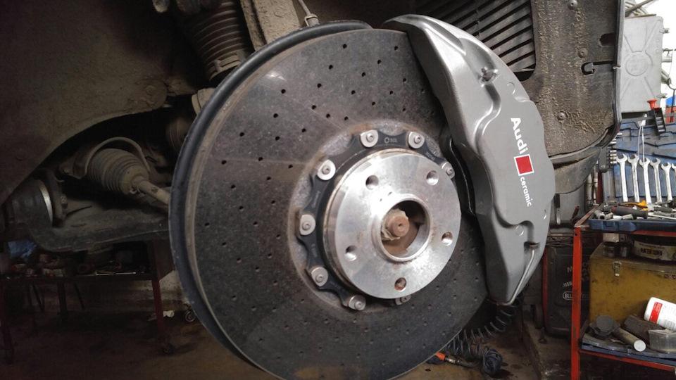 Замена тормозных колодок Audi в Минске