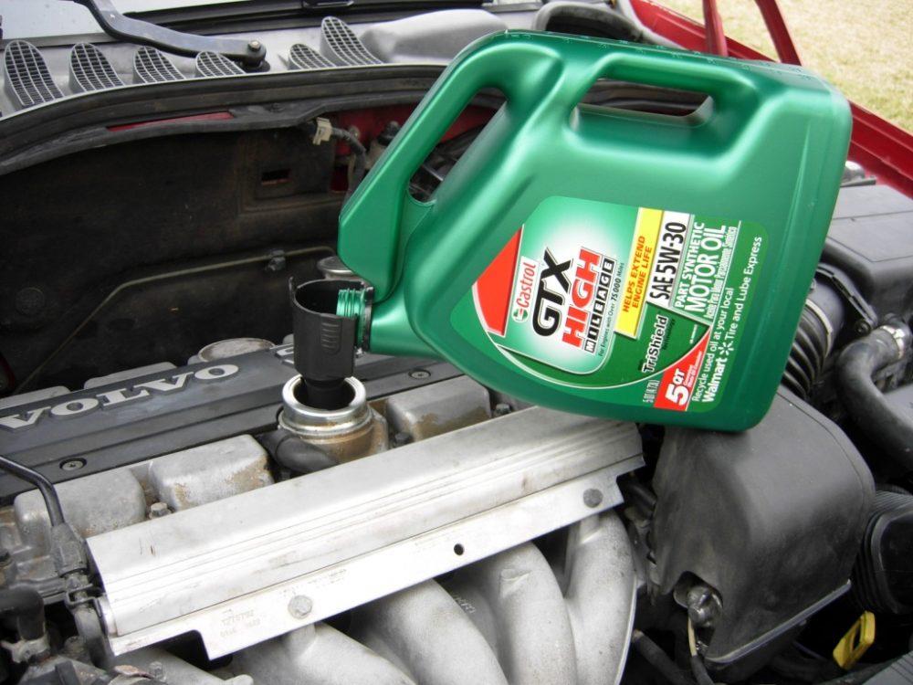 Замена масла бензинового двигателя Volvo в Минске