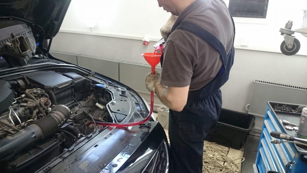Замена масла в АКПП Volvo в Минске