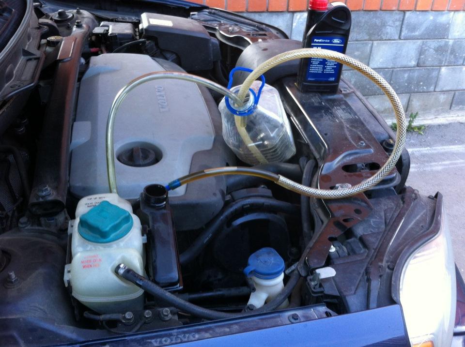 Замена масла в гидроусилителе руля Volvo в Минске