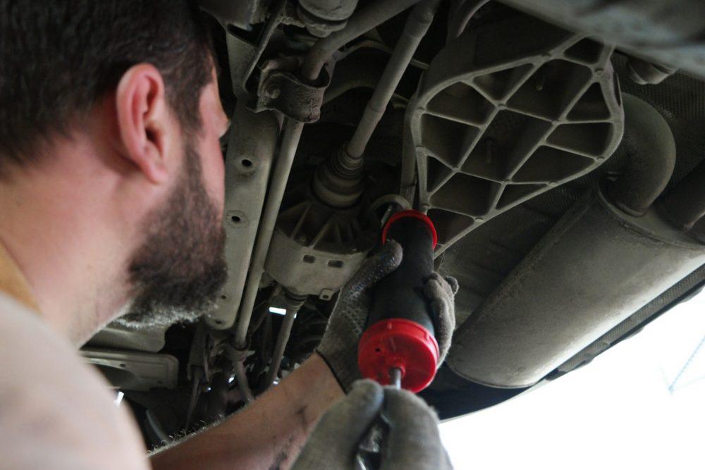 Замена масла в заднем редукторе Skoda в Минске
